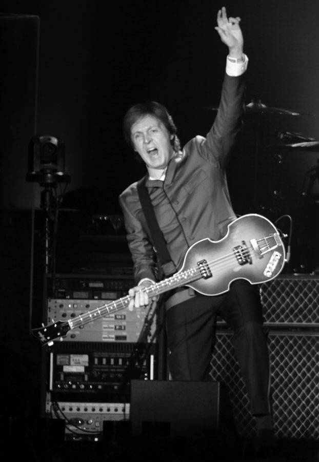 Paul McCartney, anoche en el estadio Centenario.