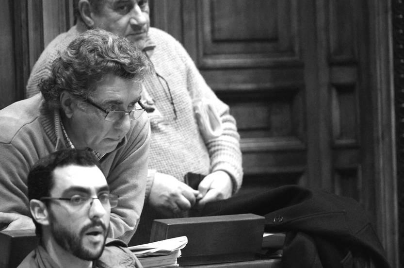Gerardo Núñez, Darío Pérez y Sergio Mier, ayer, en la Cámara de Diputados. Foto: Pablo Vignali