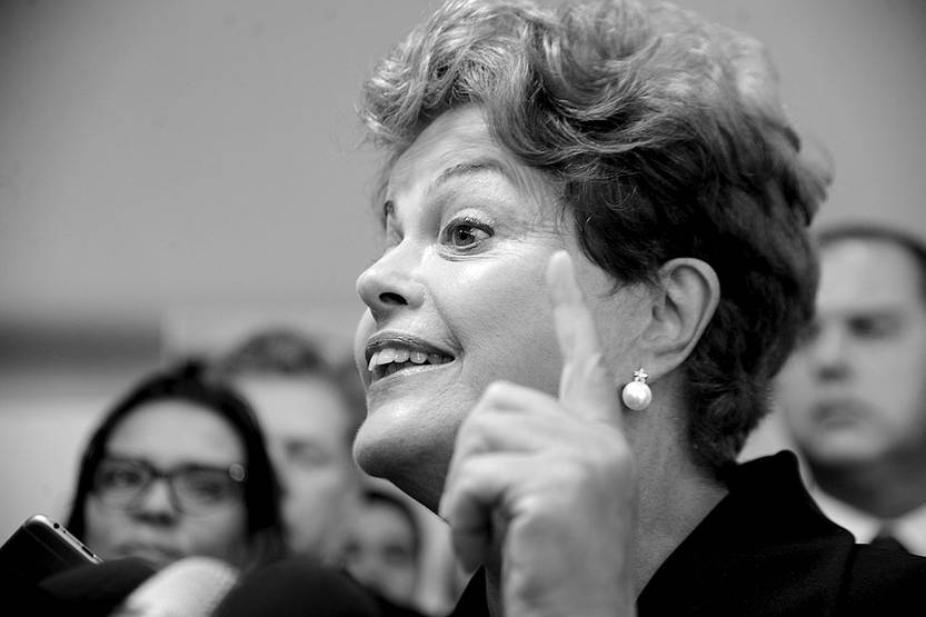 Dilma Rousseff, en rueda de prensa, el viernes en Brasilia, Brasil. Foto: Agência Brasil, s/d de autor