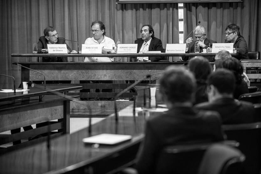 La Comisión de la Verdad de San Pablo escucha el testimonio del ex soldado Valdemar Martins de Oliveira sobre el encarcelamiento y ejecución del matrimonio Catarina Helena Abi-Eçab y João Antônio Santos Abi-Eçab en noviembre de 1968, el jueves.