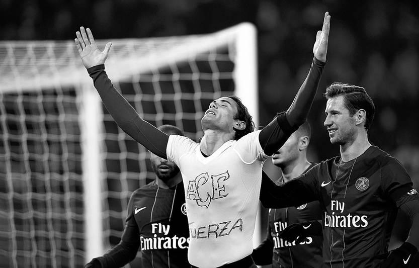 Gol con homenaje de Cavani en Francia