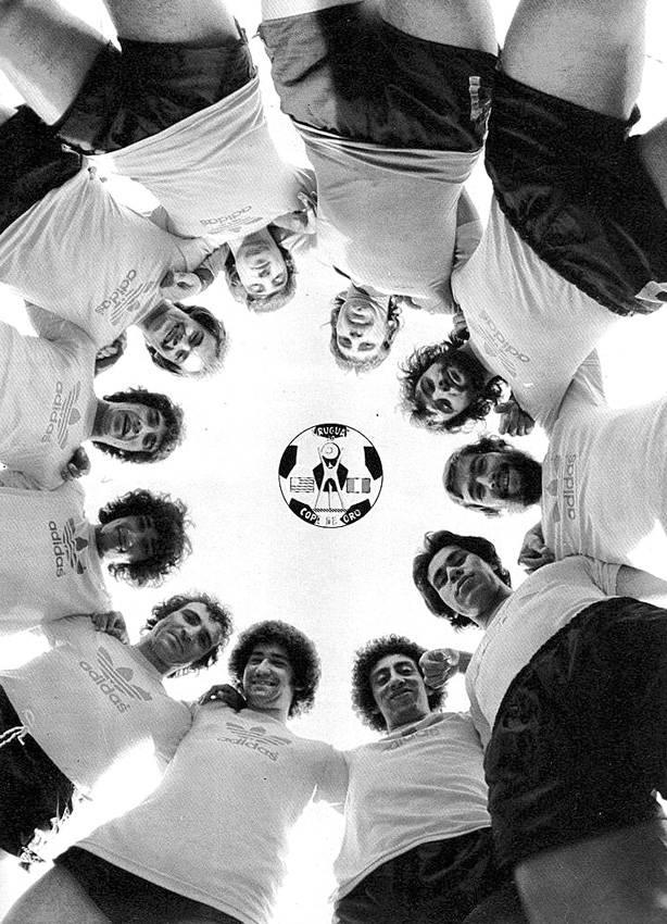 Los jugadores de la selección uruguaya de la Copa de Oro, de 1980-1981. / foto: gentileza de Coral Cine