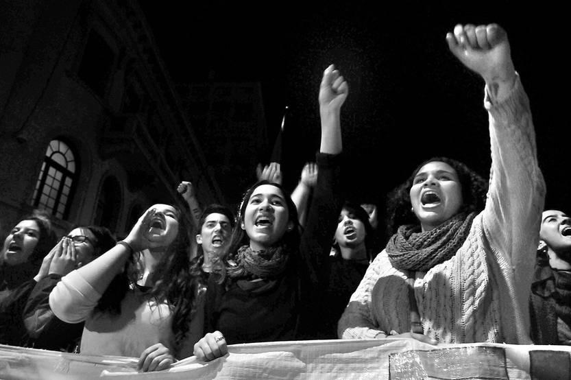 Marcha en Homenaje a los Mártires Estudiantiles, ayer, en el centro de Montevideo. Foto: Federico Gutiérrez