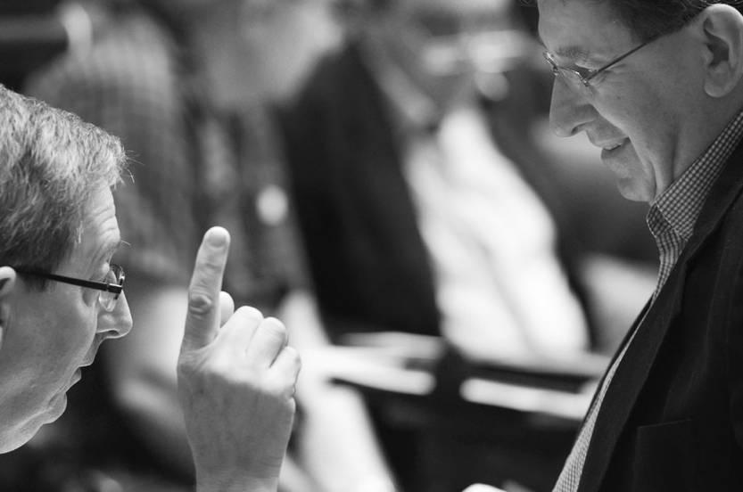 Eduardo Rubio e Iván Posada, ayer, en la Cámara de Diputados. Foto: Pablo Vignali
