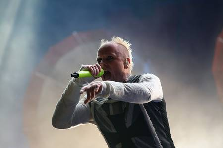 Keith Flint, de The Prodigy, el 9 de agosto de 2015.