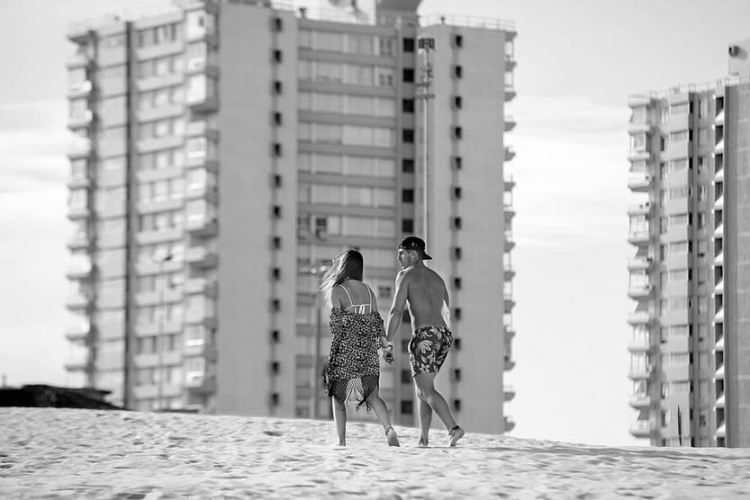 Playa Brava de Punta del Este. Foto: Santiago Mazzarovich (archivo, enero de 2016)