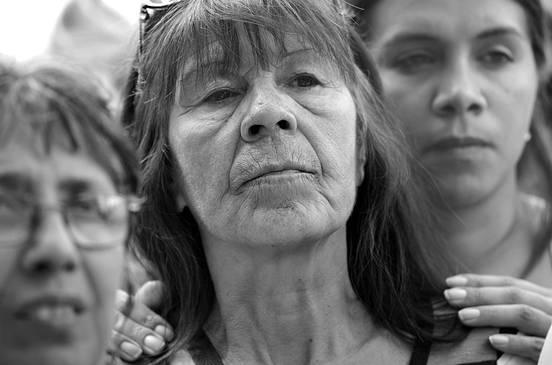 Marcha de trabajadores de Fripur. Foto: Pablo Vignali (archivo, marzo de 2016)