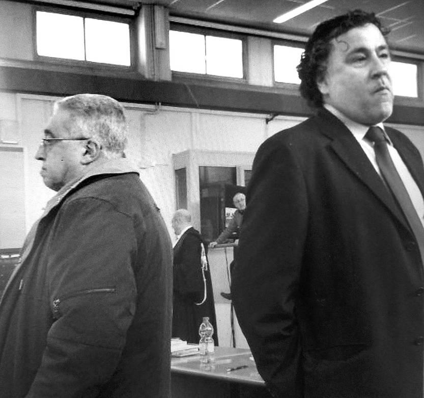 Jorge Ithurburu (d) y Jorge Tróccoli, en Roma. Foto: s/d de autor