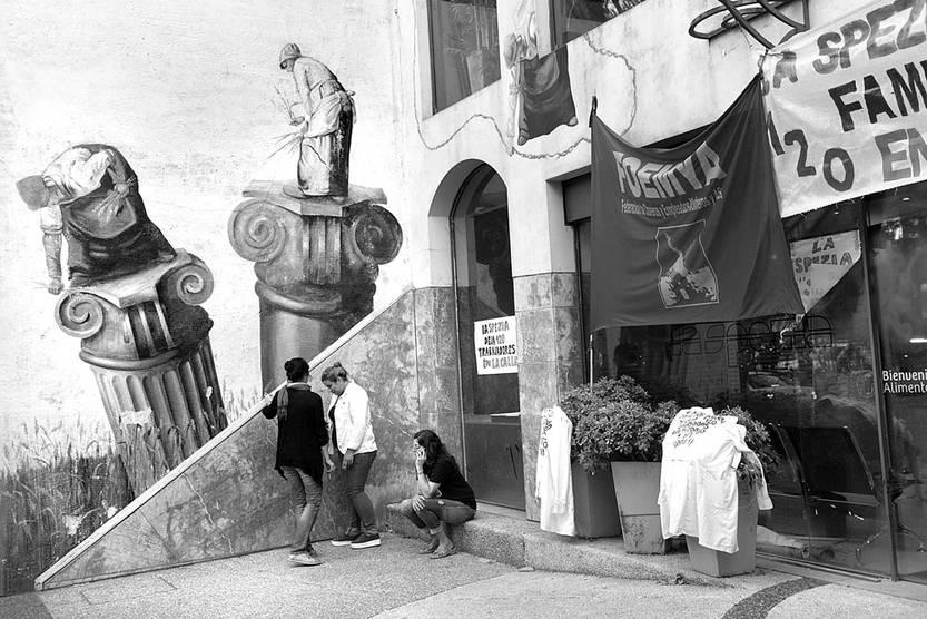 Fábrica de pastas La Spezia, ocupada por los trabajadores, ayer. Foto: Andrés Cuenca
