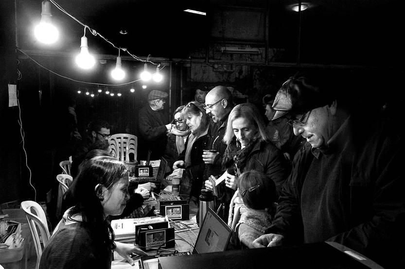 Congreso del Partido Comunista del Uruguay, el viernes, en el Platense Patin Club. Foto: Federico Gutiérrez