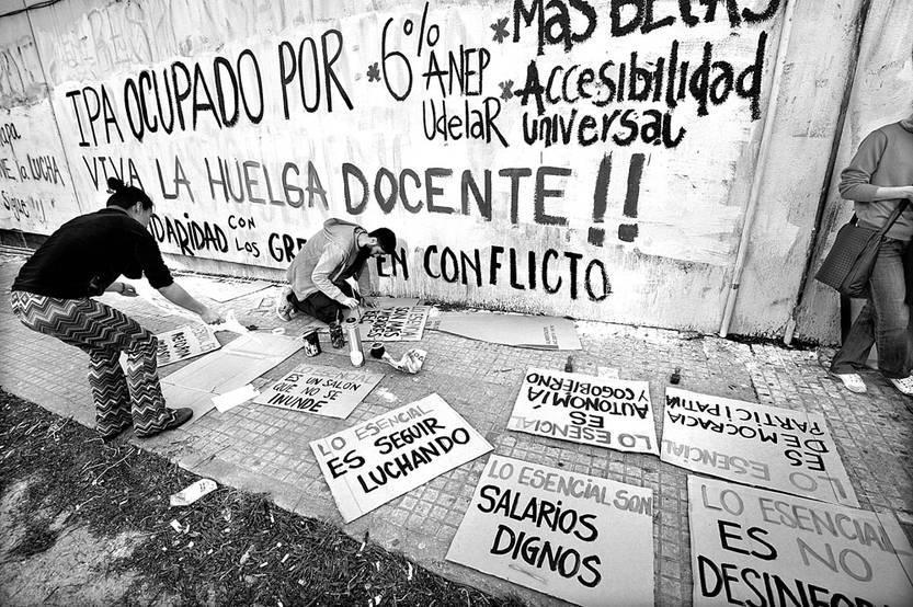 Instituto de Profesores Artigas, ayer, durante la asamblea de Ademu. Foto: Federico Gutiérrez (archivo, agosto de 2015)