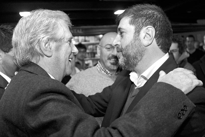 Tabaré Vázquez, Marcelo Abdala y Fernando Pereira. Foto: Alvaro Salas, presidencia (archivo, junio de 2015)