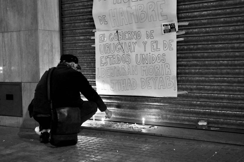Vigilia por Jihad Diyab. Foto: Federico Gutiérrez
