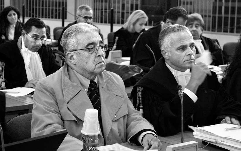 Jorge Tróccoli y su abogado, Francesco Guzzo, ayer, durante el juicio en Roma. Foto: Nadia Angelucci