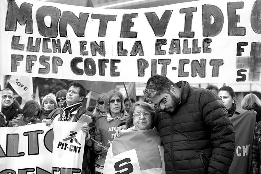 Movilización del PIT CNT. Foto: Pablo Vignali (archivo, junio de 2016)