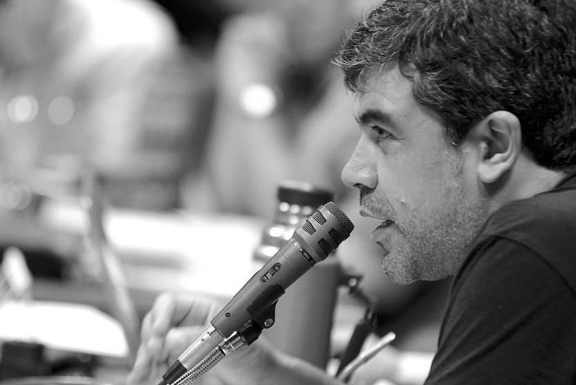 Óscar Andrade. Foto: Santiago Mazzarovich (archivo, enero de 2016)