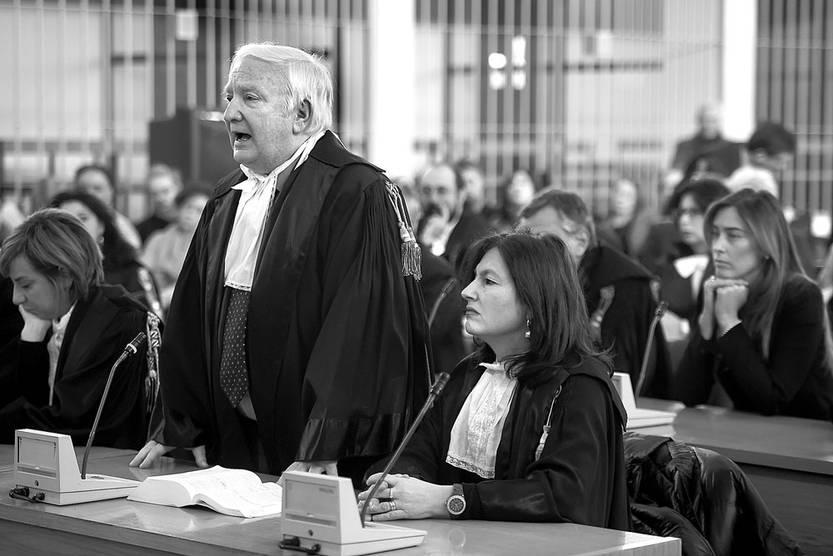 Giancarlo Capaldo, fiscal del juicio del Plan Cóndor (i), durante la audiencia del 17 de enero, en Roma. Foto: Filippo Monteforte, AFP