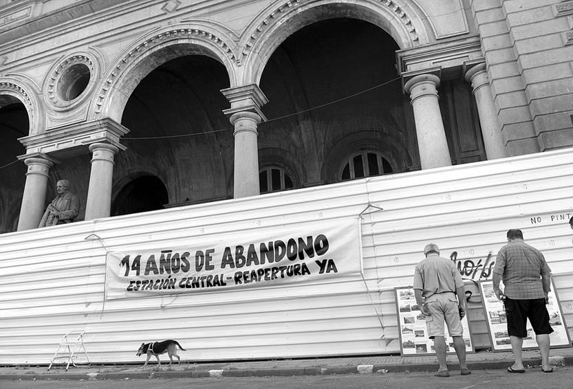 Estación Central General Artigas, ayer, a 14 años de la llegada del último tren. Foto: Andrés Cuenca