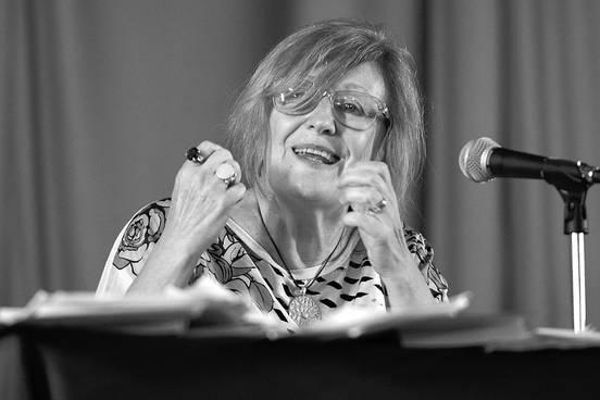 Graciela Frigerio, ayer, en el Instituto de Profesores Aatigas.Foto: Santiago Mazzarovich