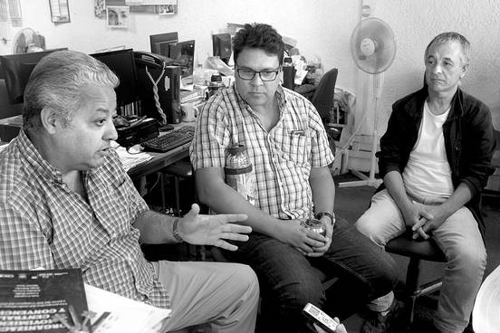 Luis Leopold, Jorge Peloche y  Héctor Seco. Foto: Pablo Vignali