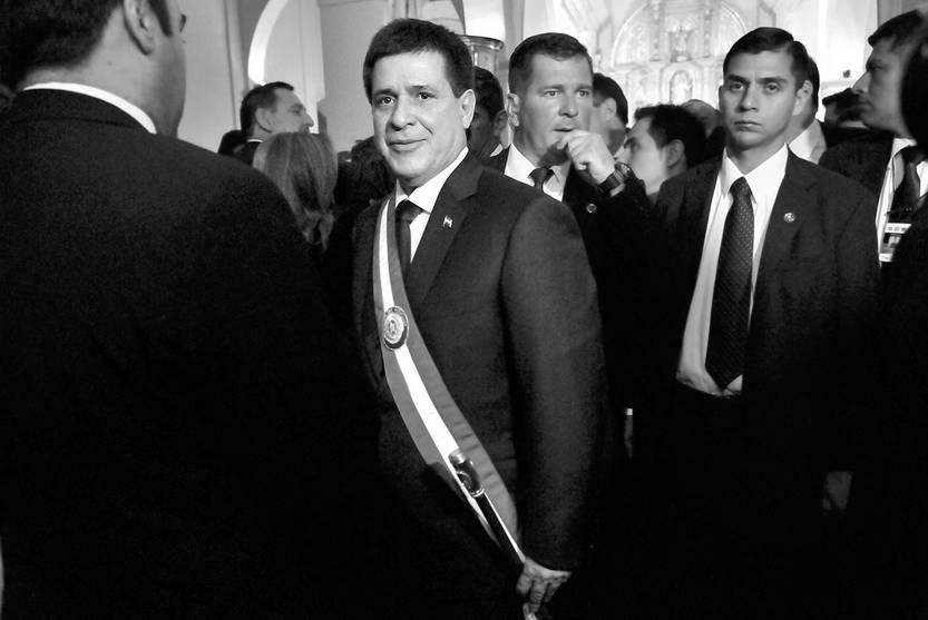 Horacio Cartes, en el acto de asunción de la presidencia de Paraguay. Foto: Javier Calvelo (archivo, agosto de 2013)