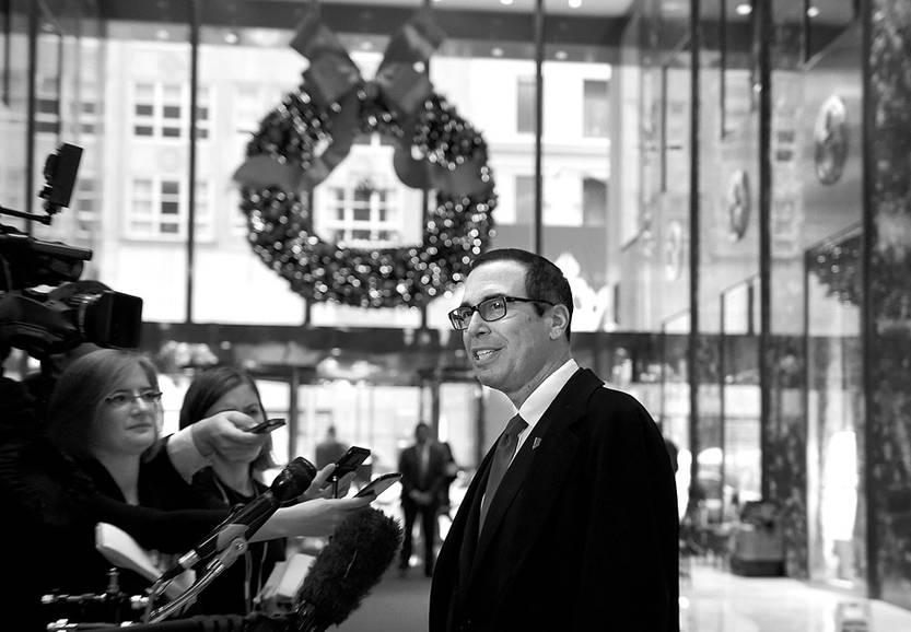 Trump designó a su equipo económico y anunció que se desvinculará de sus negocios antes de asumir la presidencia