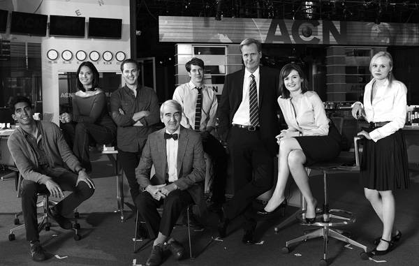El elenco de The News Room.