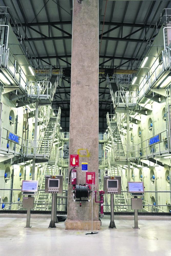 Planta Industrial de Montes del Plata, en Conchillas, Colonia. Foto: Pablo Nogueira