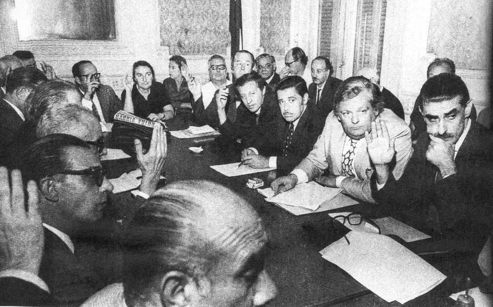 Reunión de la Mesa Política del FA, 1971